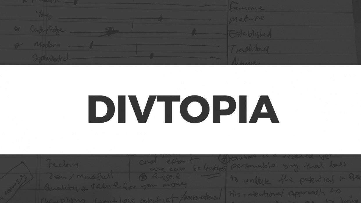 Divtopia Brand Personality - student project