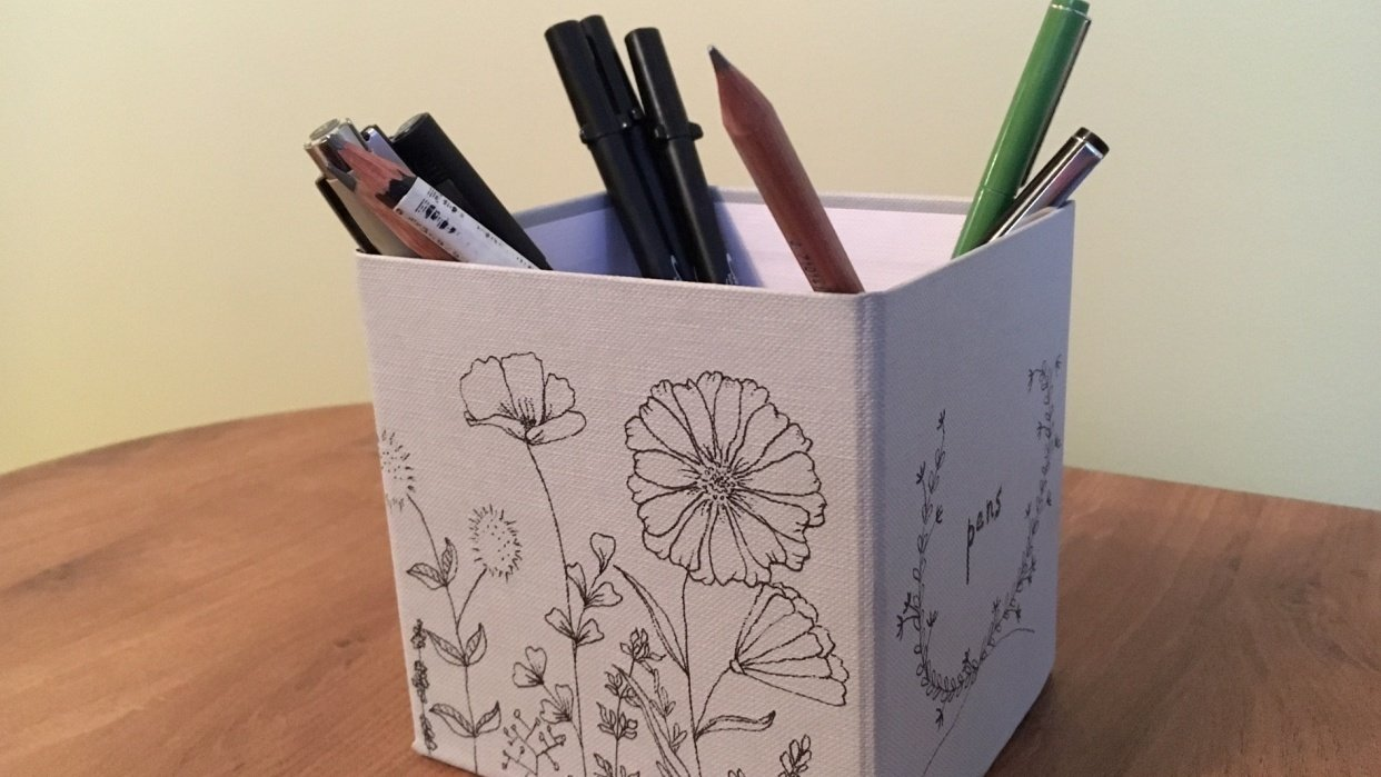 Botanical box for pens - student project