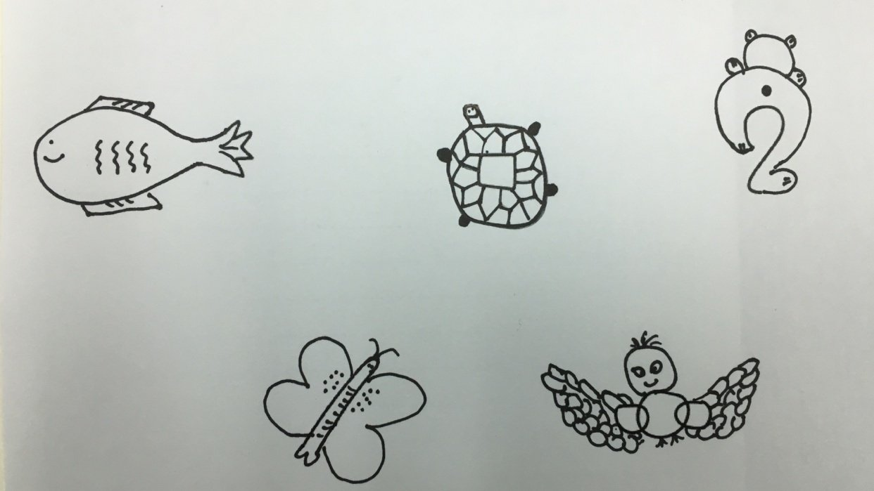 Art of doodle - shape n animal project - student project