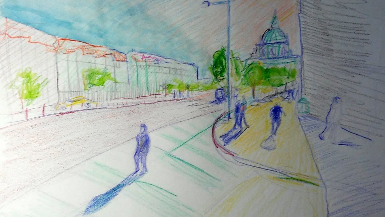 quick sketch of Prague - student project