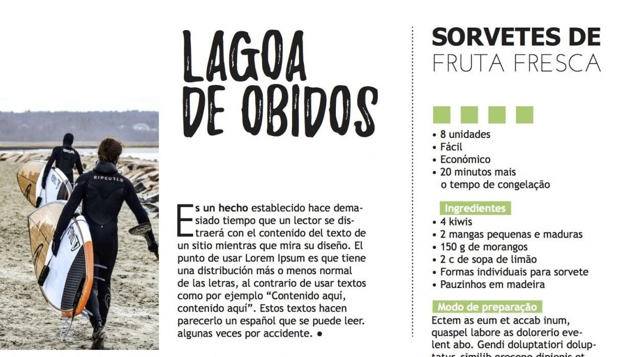 Food/Lifestyle Magazine - student project