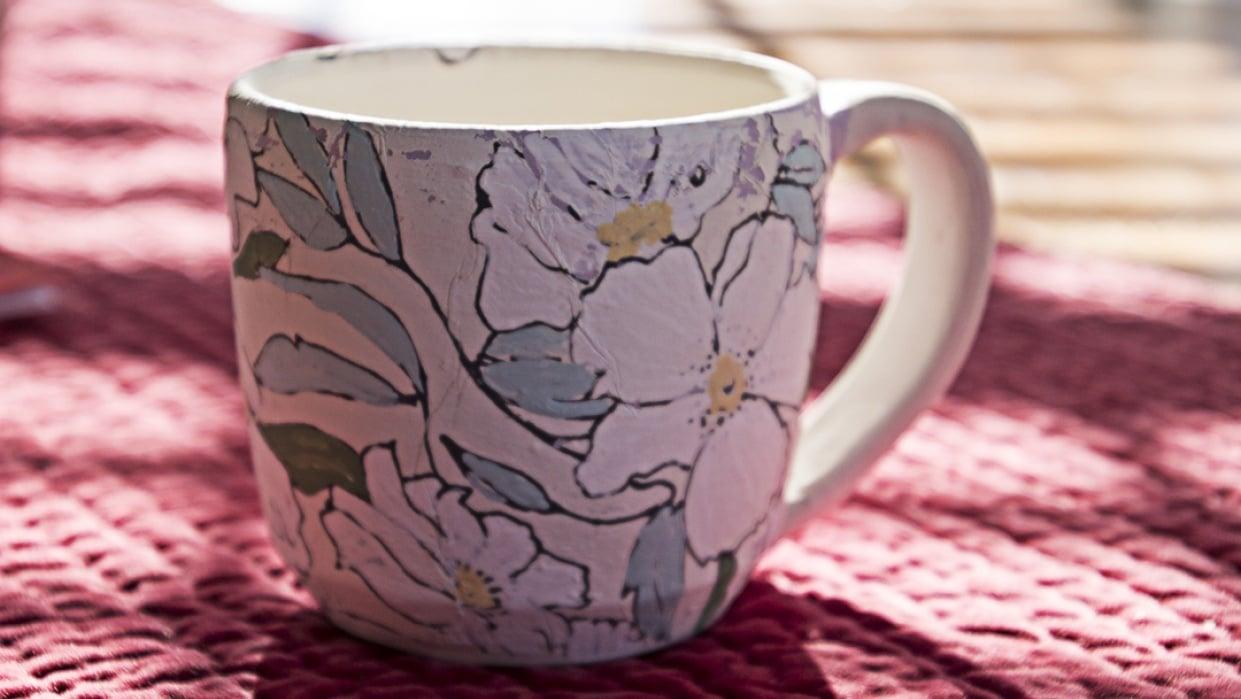CloverandLu - Southern Belle Floral Mug - student project