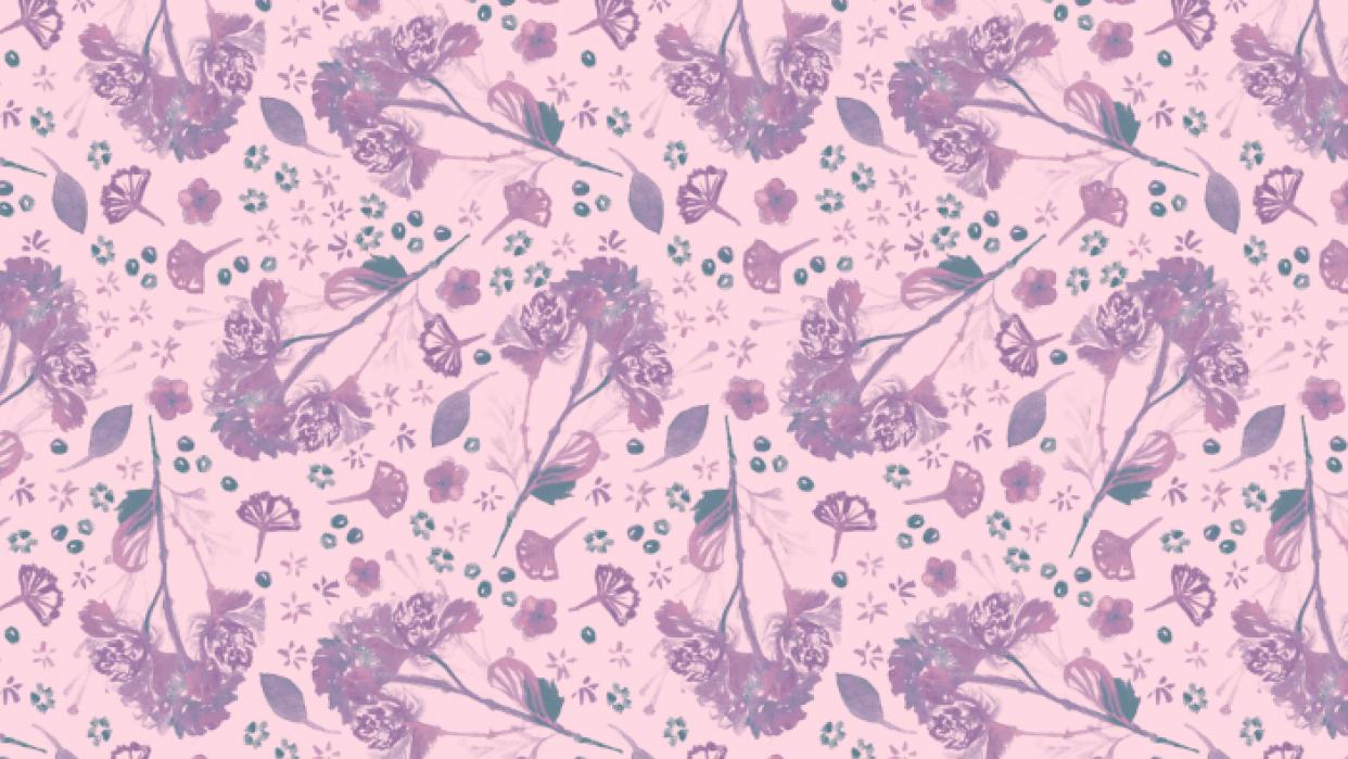 Purple Flower Bunch - student project