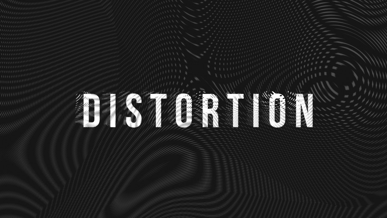 Distortion Moire Typography - student project