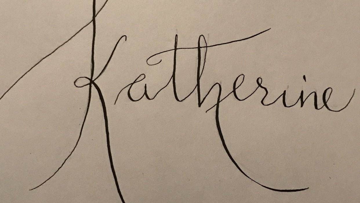 Beginner Modern Calligraphy Project - student project