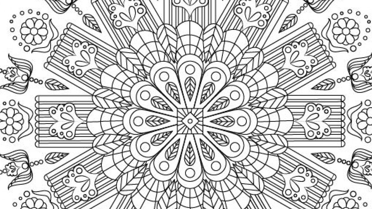 My First Coloring Page-Mandala Exercise - student project