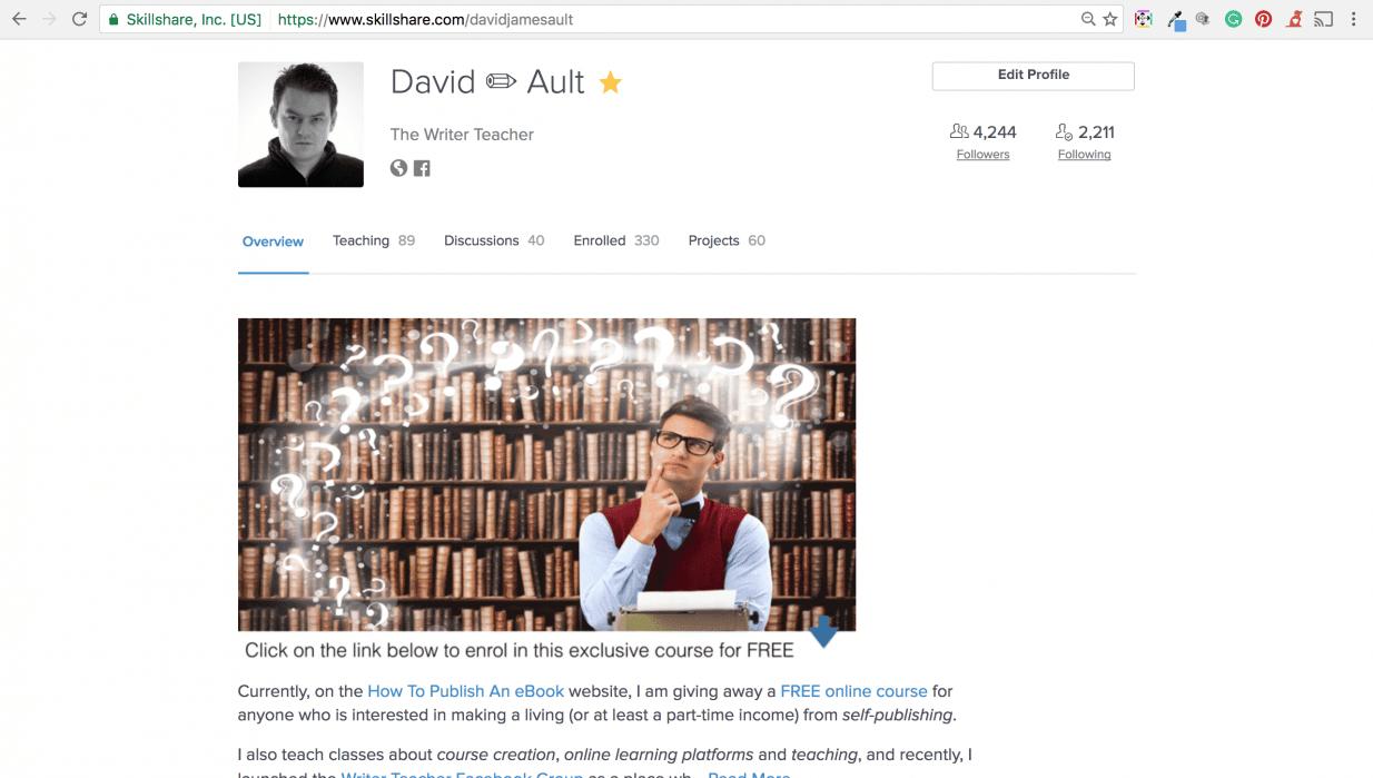 David James Ault Profile - student project