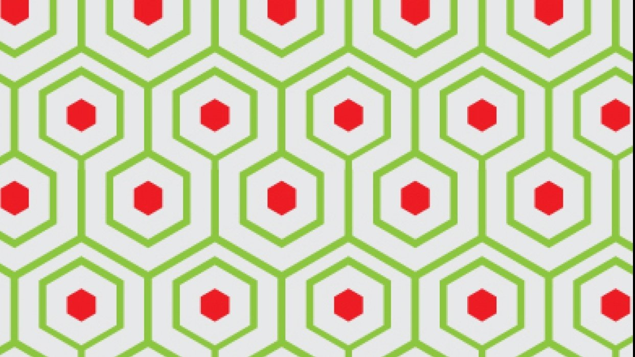 Meandering Hexagon Pattern - student project
