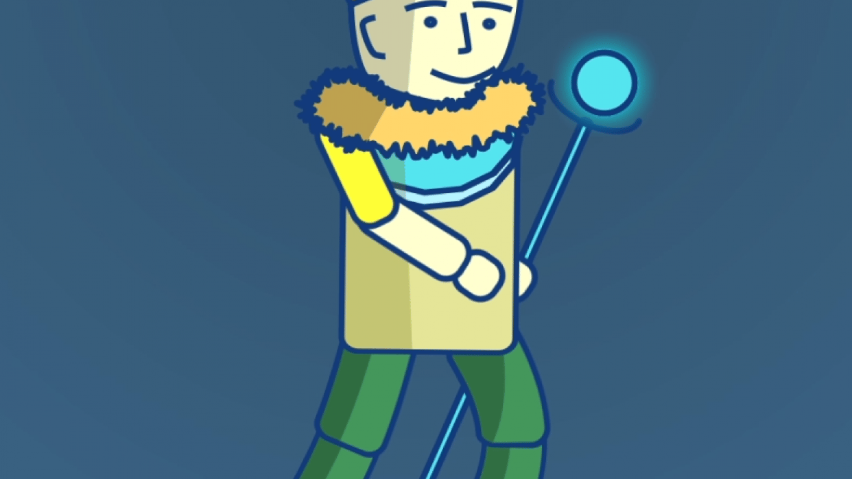 King Walking Home - student project