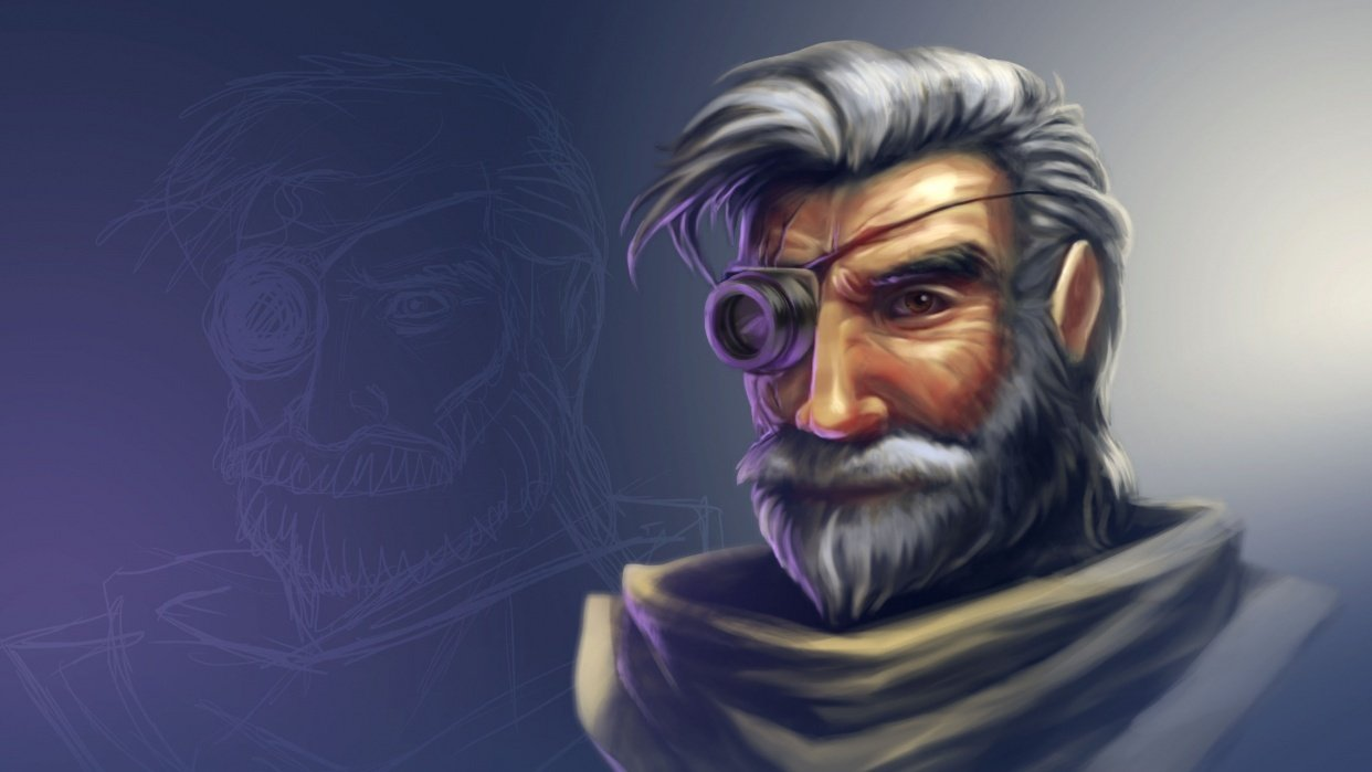 Space Pirate (portrait) - student project