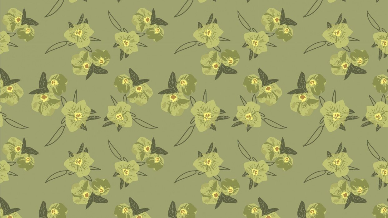my first floral pattern - student project
