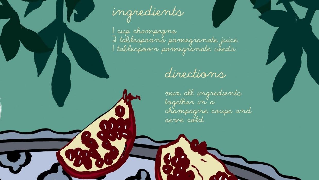 pomegranate mimosa - student project