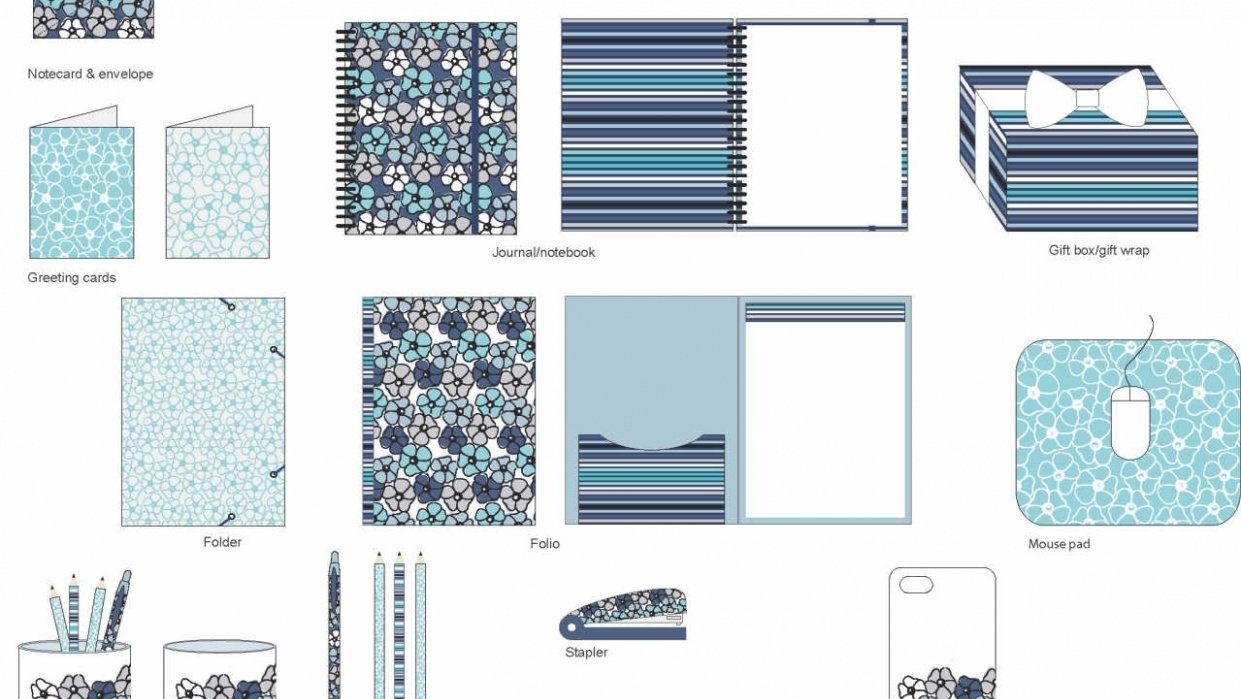 Stationery products - Floral Pattern - student project