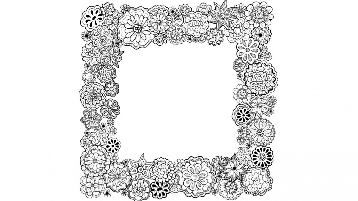Floral Frame - student project
