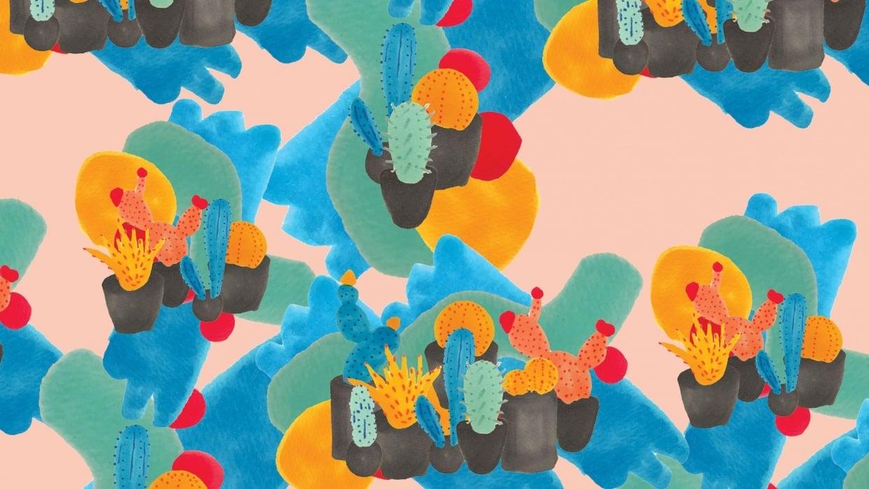 Cactus Handmade Pattern  - student project
