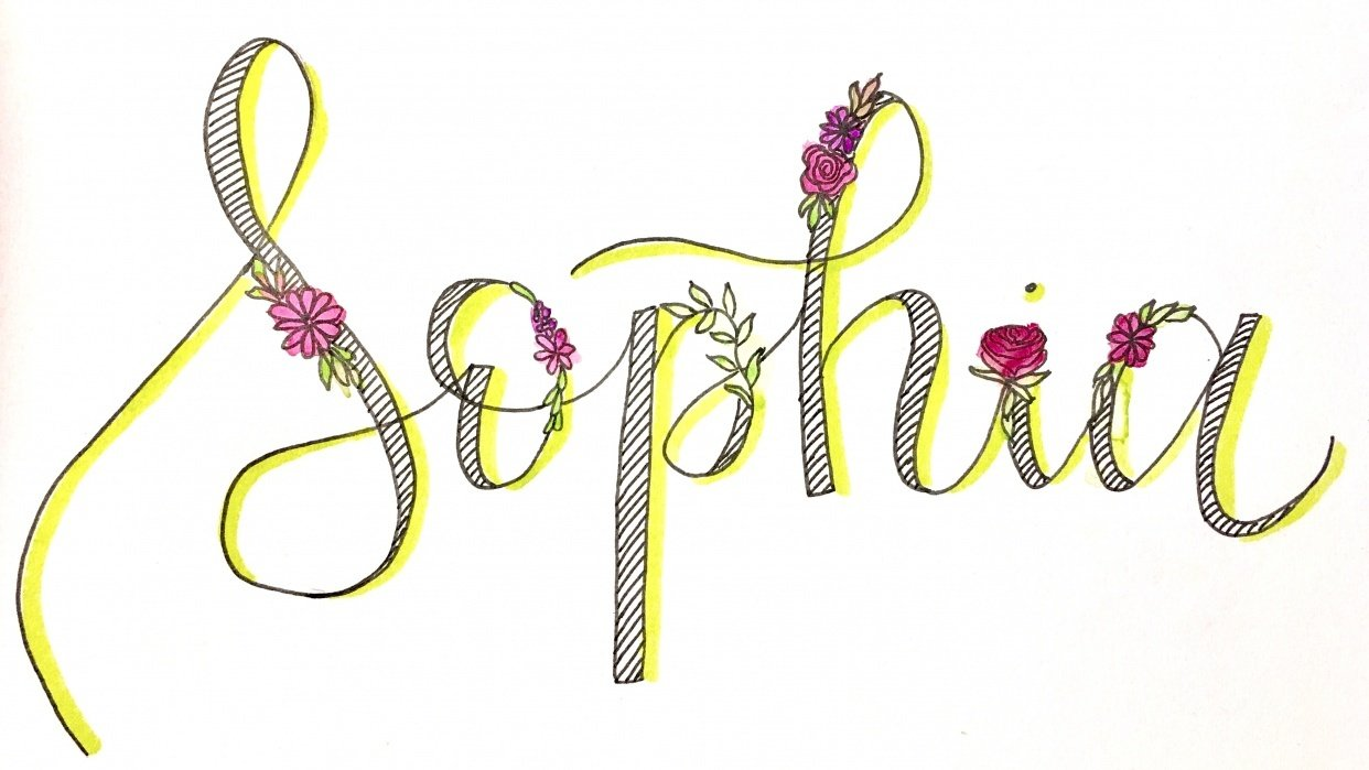 My daughter's name <3 - student project