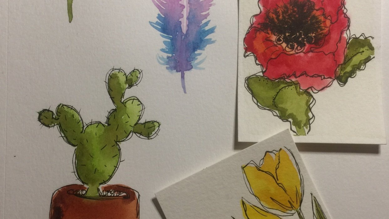 Watercolor Examples - student project
