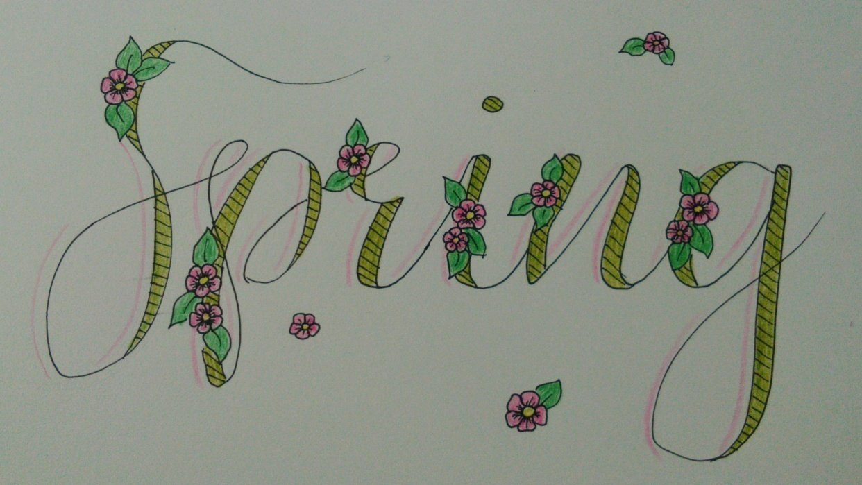 My first lettering project - student project