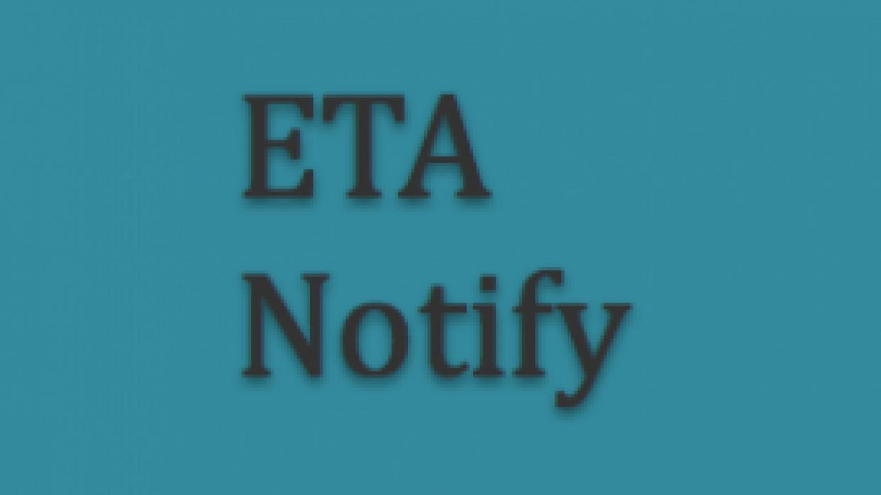ETA Notify - student project
