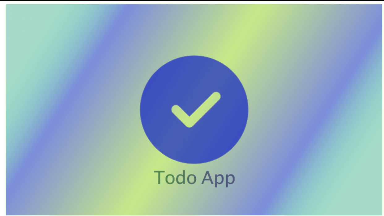 Todo list - student project