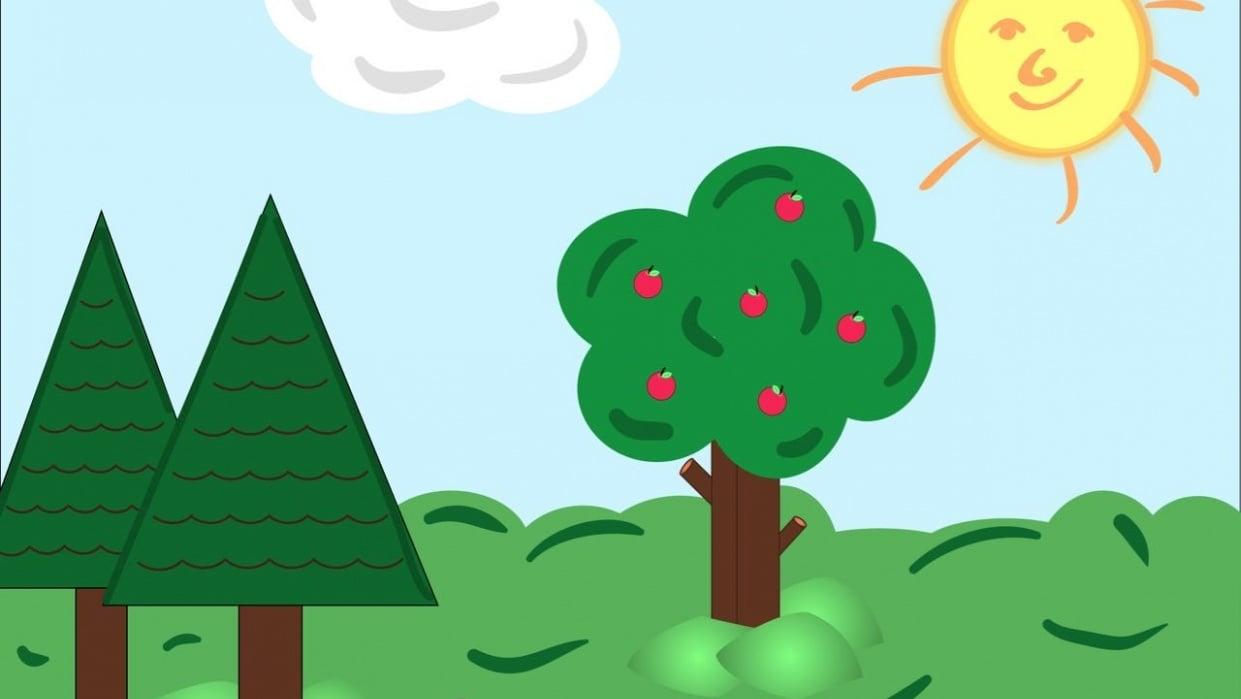 A simple Landscape - student project