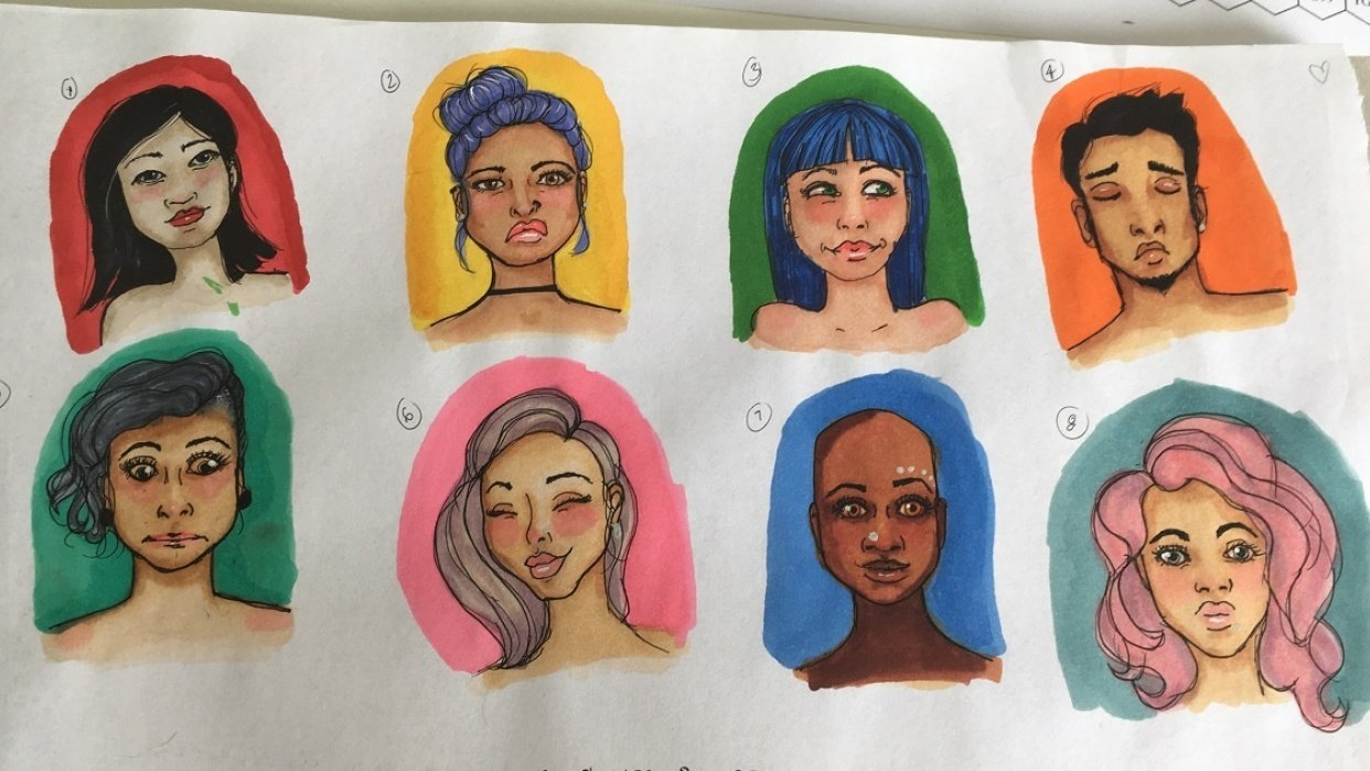 My little faces :) - student project