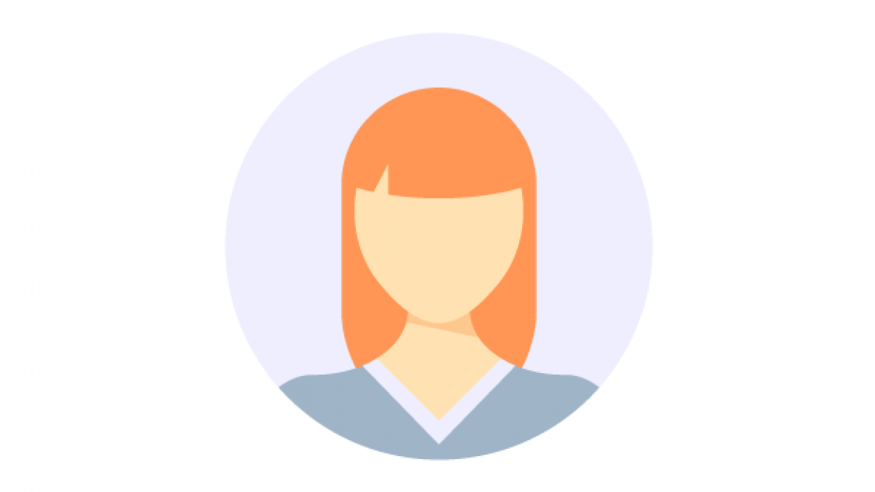My girl flat icon - student project