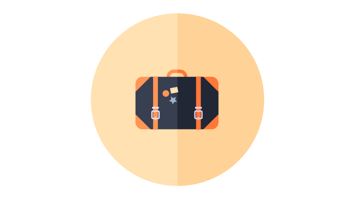 My suitcase flat design icon - student project