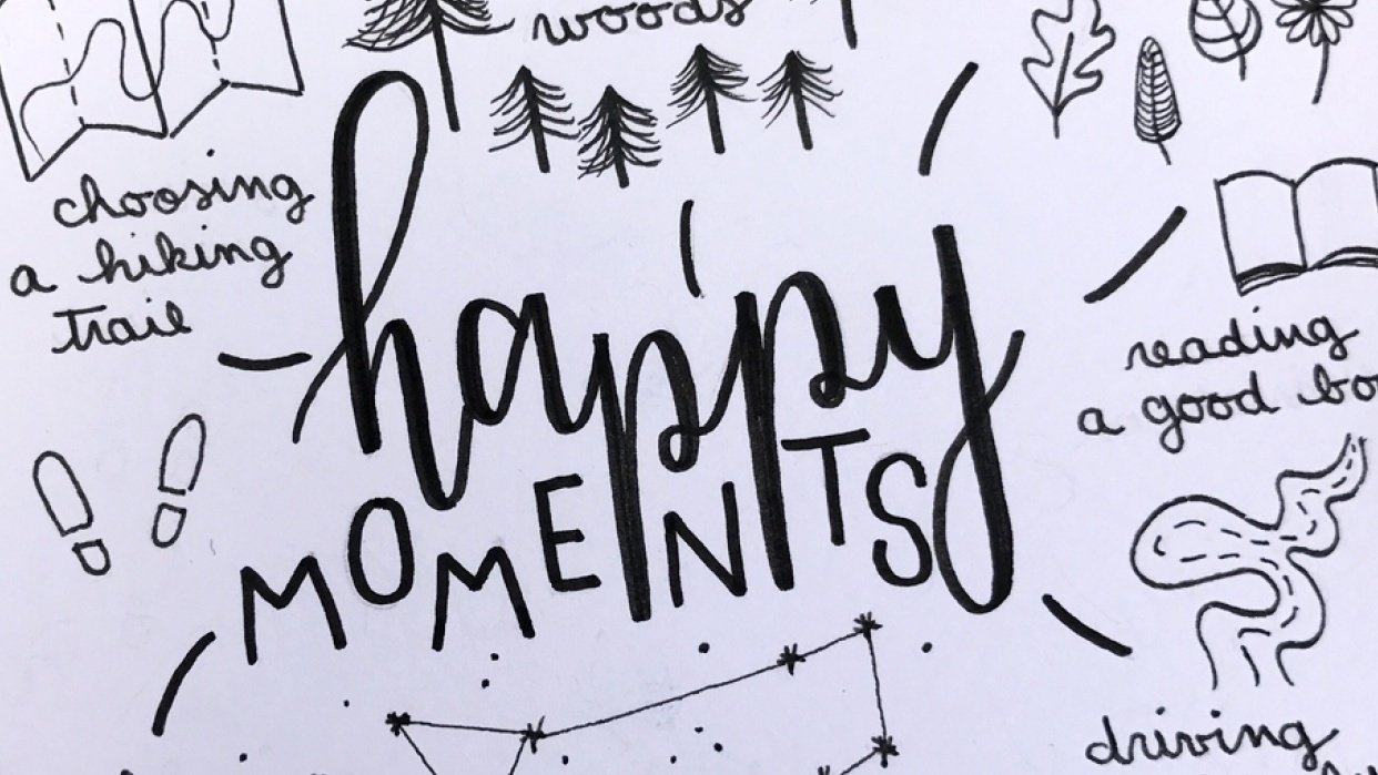 reflecting on happy moments - student project