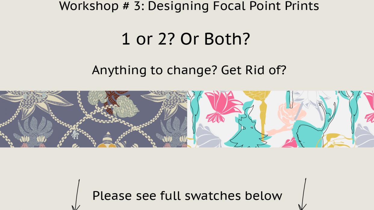 Workshop #3: Designing Focal Point Prints - student project
