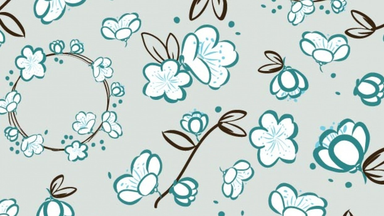 """Intro to surface pattern design workshop:  """"Nostalgia"""" - student project"""