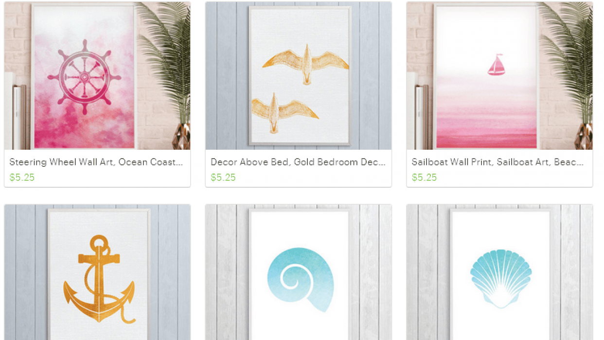 Dreamy Seahorse: Nautical and Coastal Printables - student project