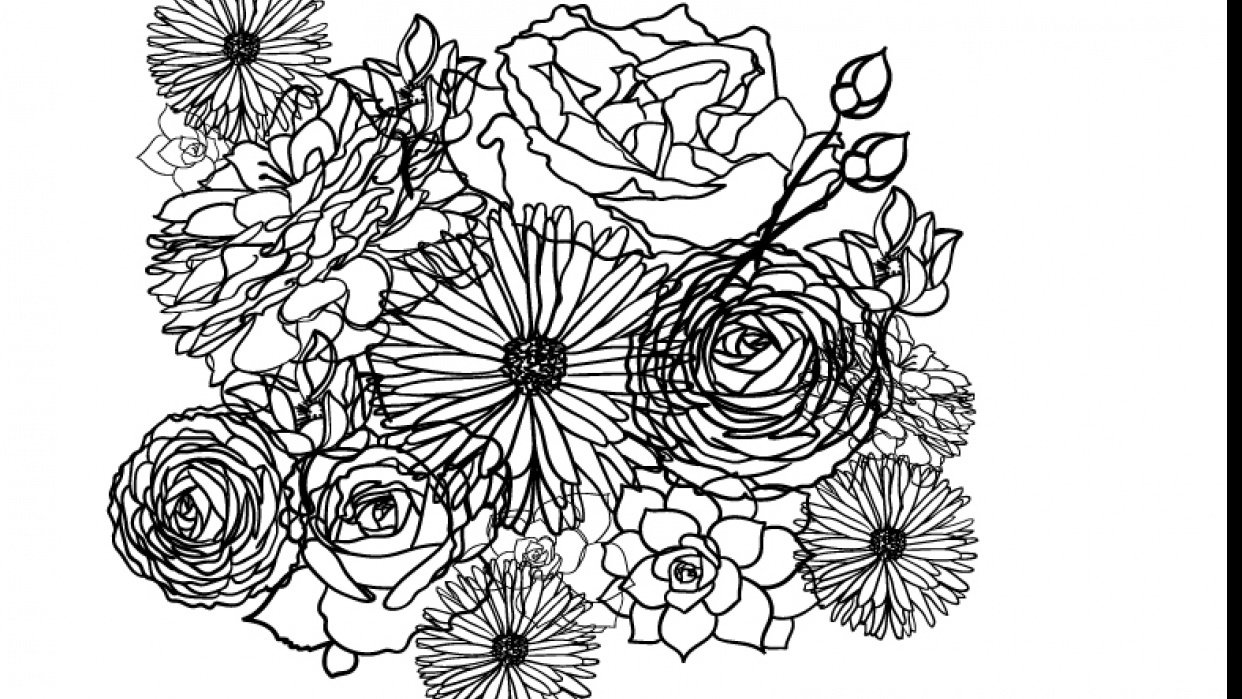 Floral Repeat - student project