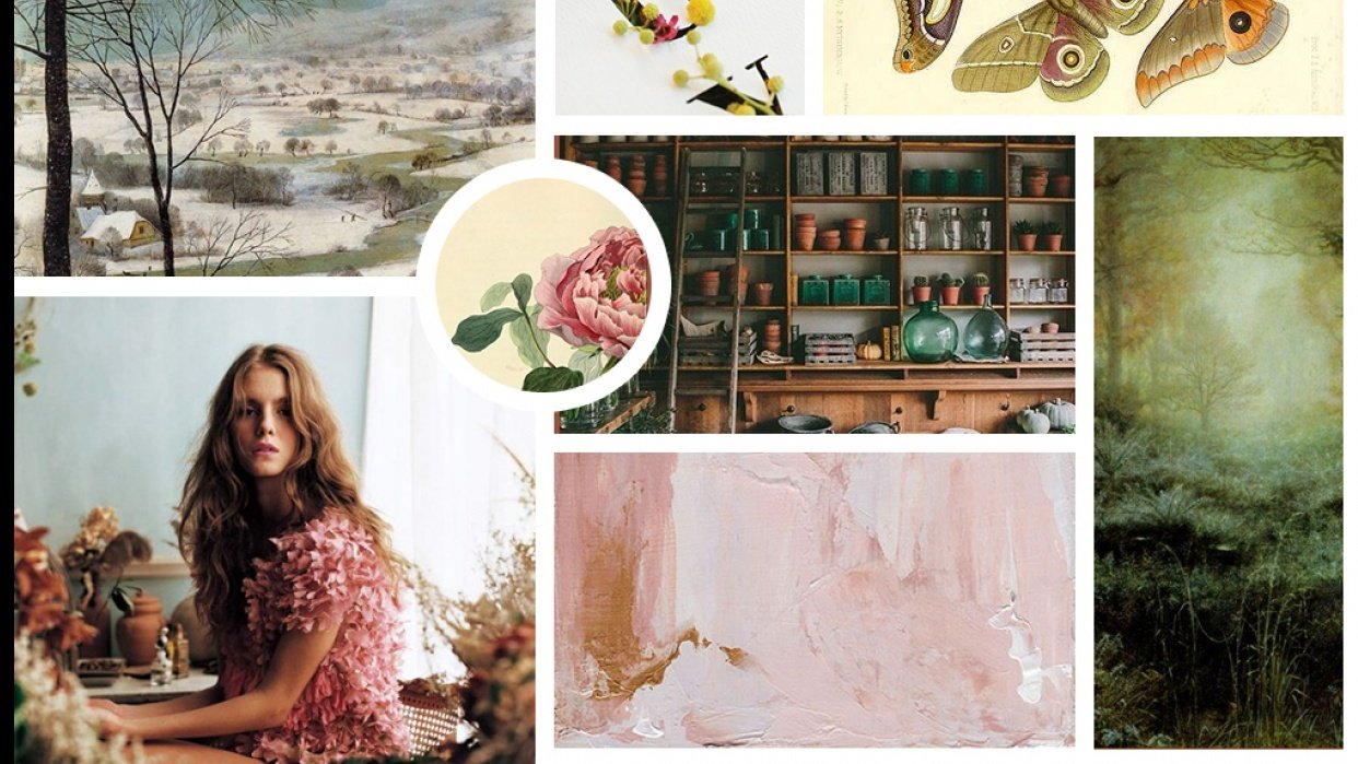 """A bit """"moody"""" February moodboard  - student project"""