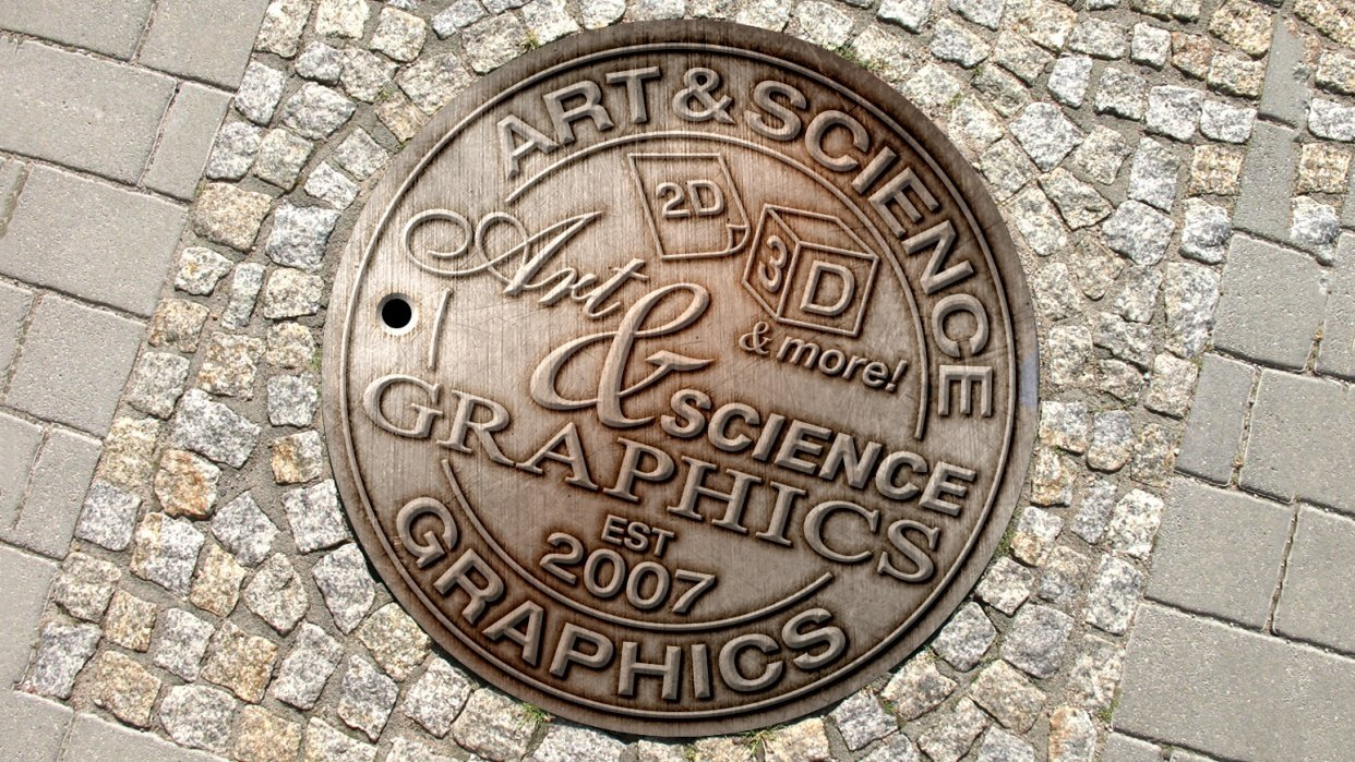 Art & Science Graphics Manhole Cover - student project
