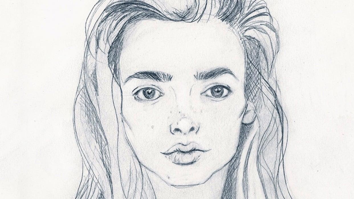 Minimalist Portrait in Pencil  - student project