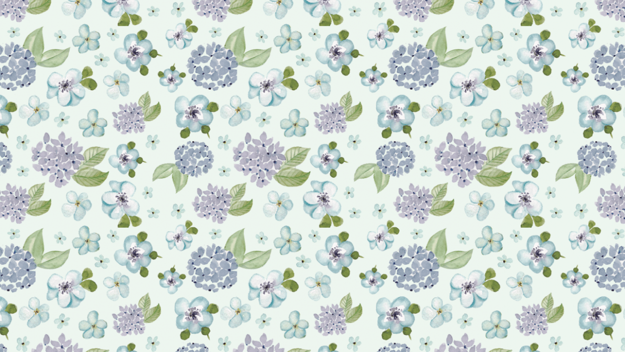 Blue Floral Pattern - student project
