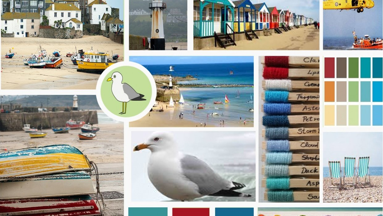 St Ives Holiday Mood board - student project