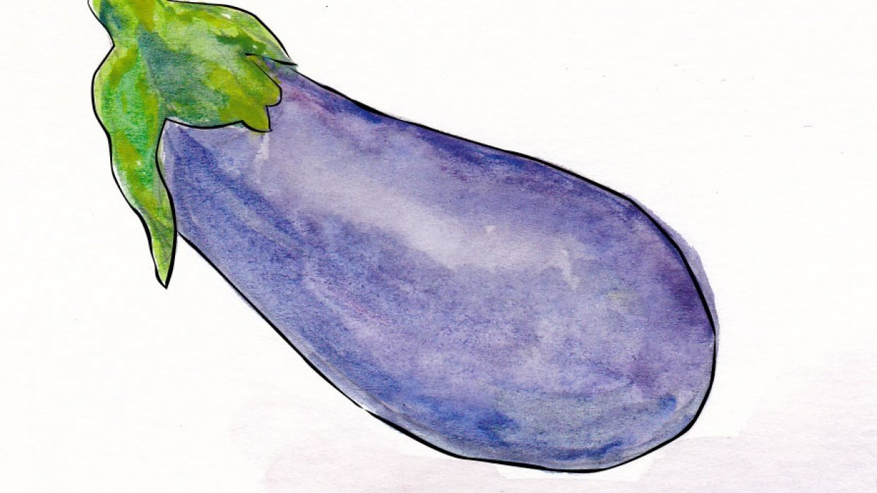 My Inky Aubergine - student project