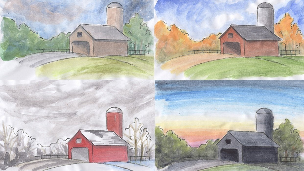 Watercolor Sketches - student project