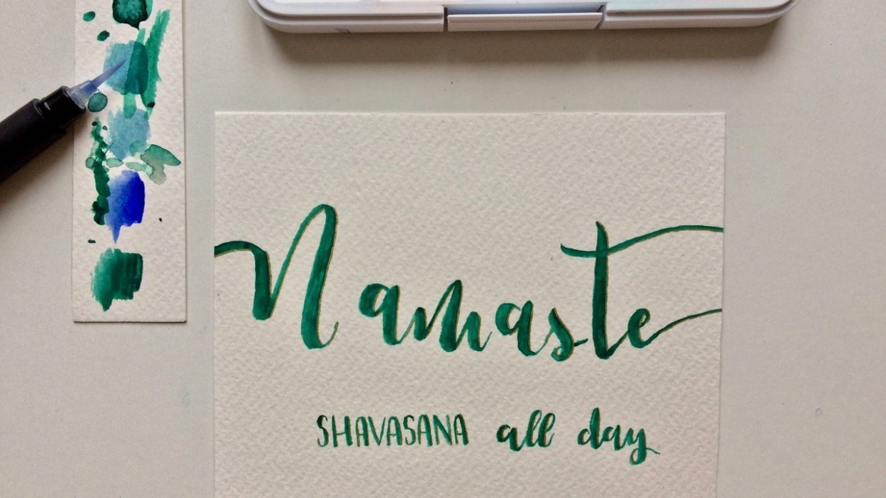 """""""Namaste"""" card - student project"""
