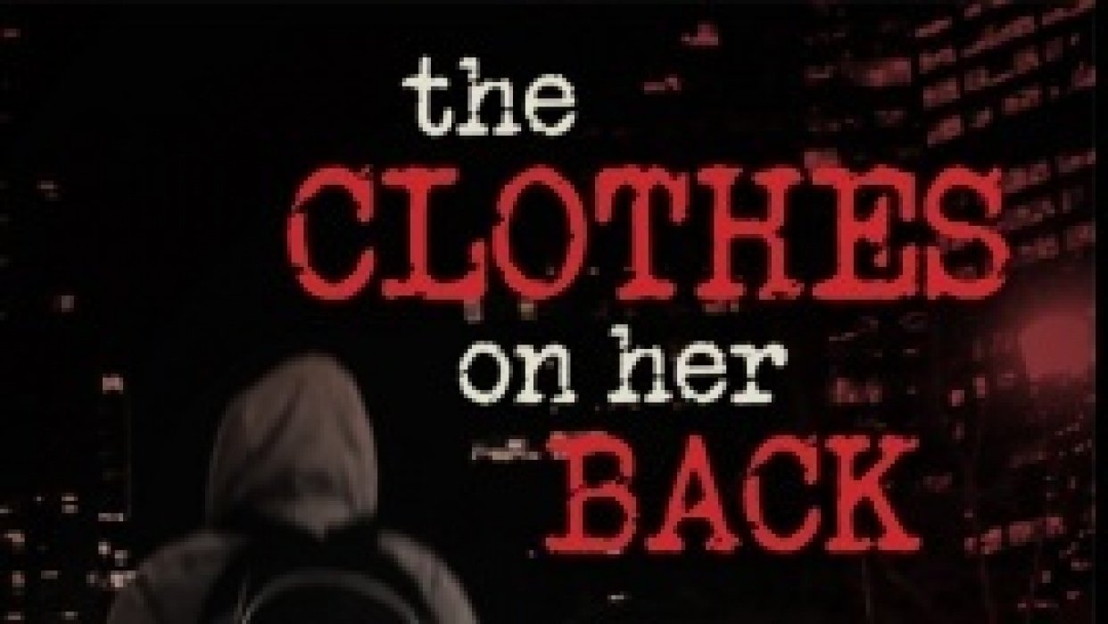 The Clothes on Her Back Title Design - student project