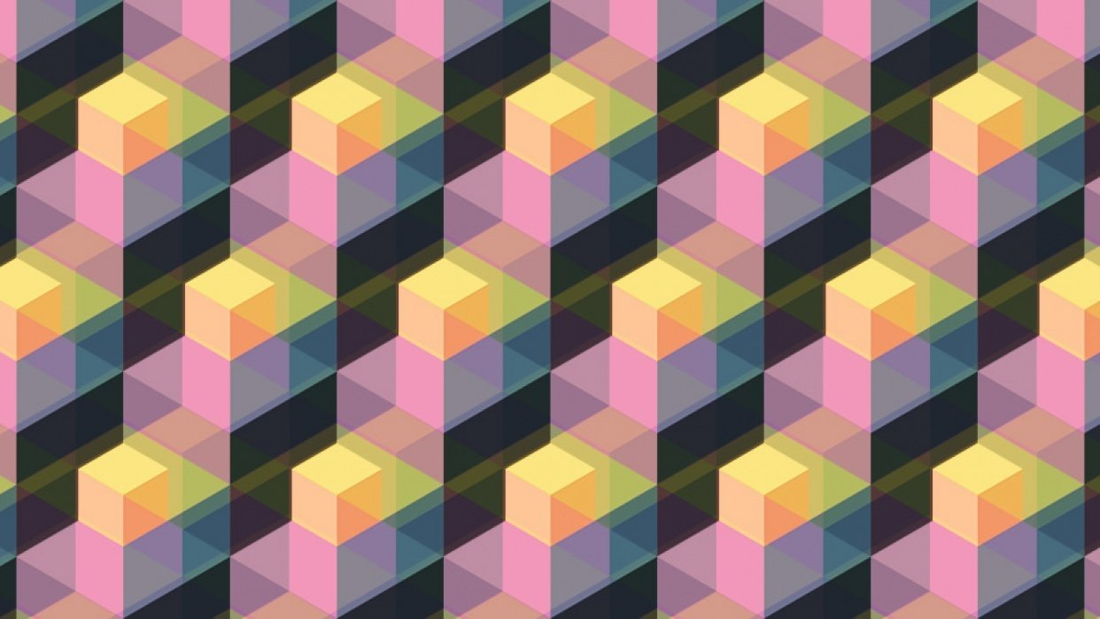 Multicolored, Offset Pattern - student project