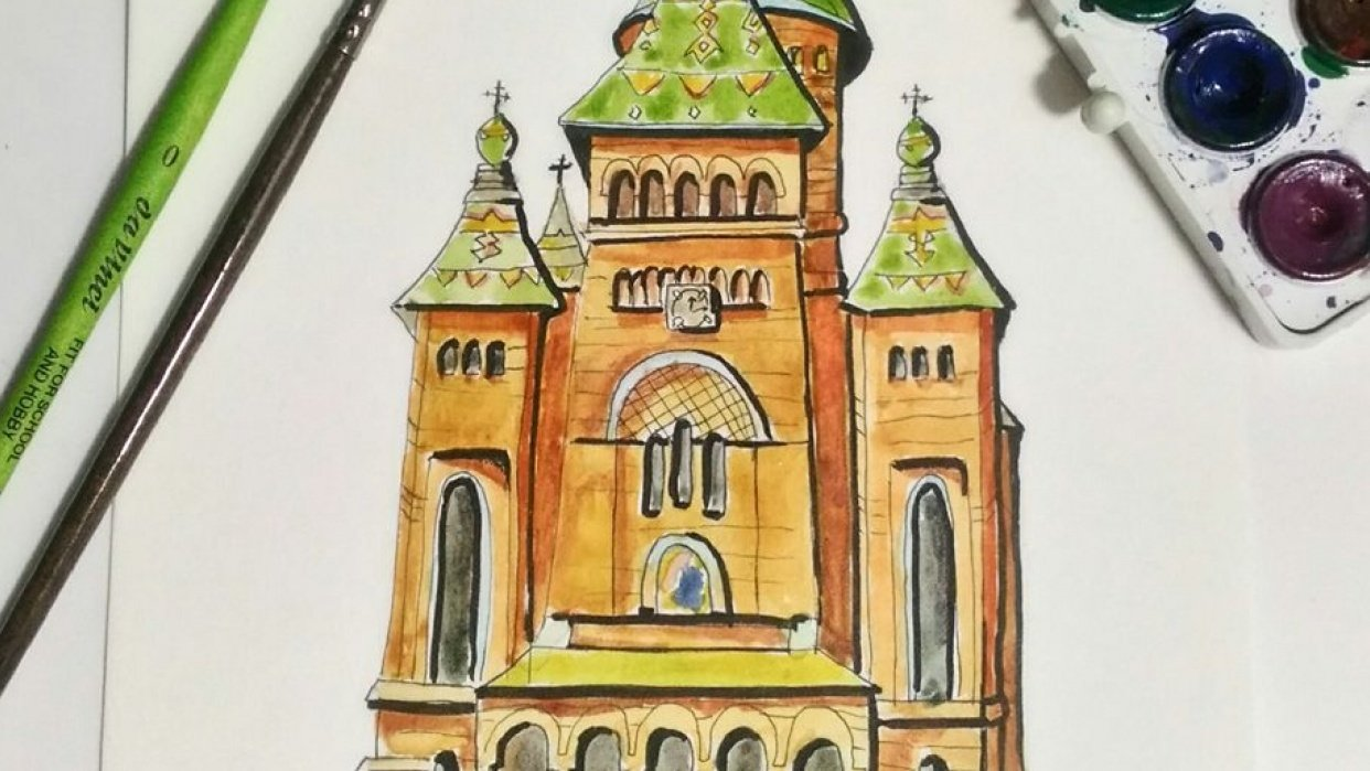 Timișoara Orthodox Cathedral - student project