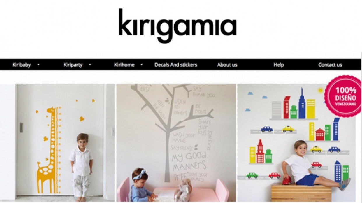Kirigamia - Modern decals for kids and family - student project