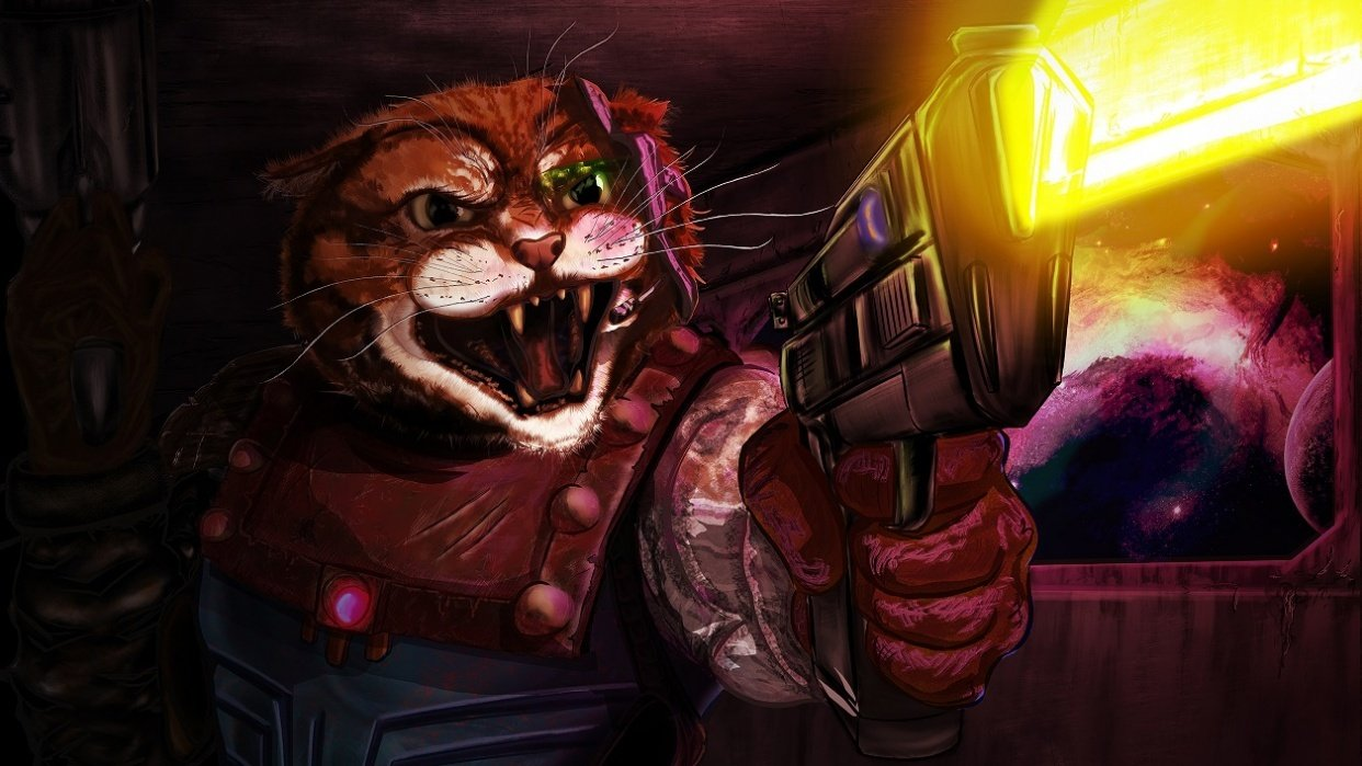 Cat space trooper - student project