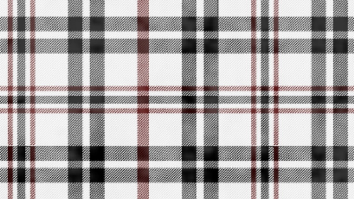 Black, Red & White Plaid - student project
