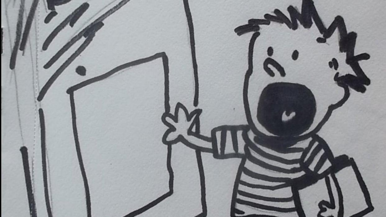 Calvin par Marilou 14 ans - student project