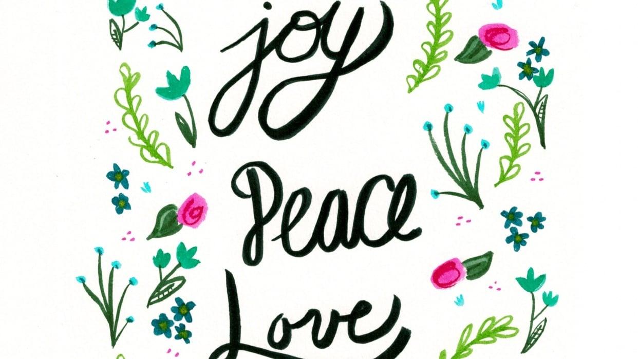 Joy Peace Love - student project