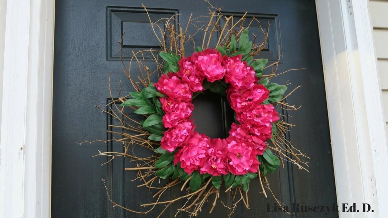 Flower Front Door Wreath - student project